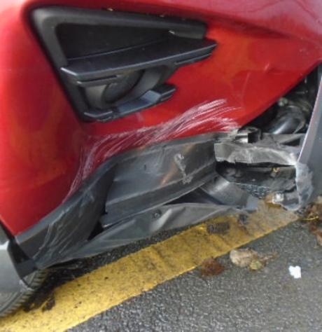 Original damaged bumper