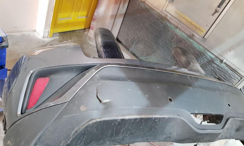 Plastic bumper welding