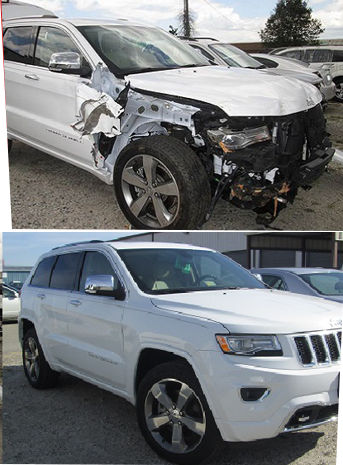 crash repair - before and after photos